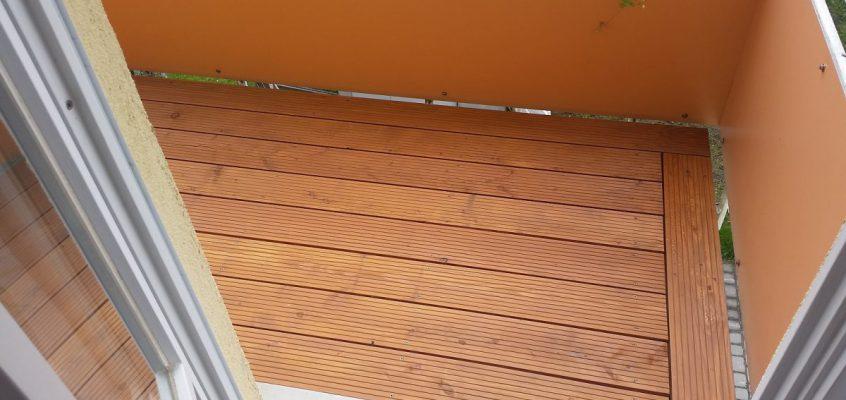 Balkon Holzboden aus Lärche
